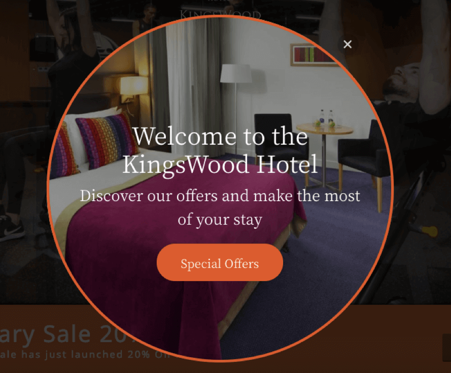 kingswood hotel website welcome message